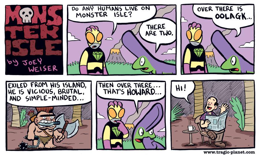 Humans on Monster Isle