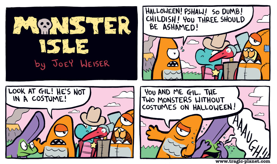 Monsters on Halloween